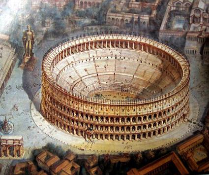 Colosseo Ricostruzione Storia Romana E Bizantina