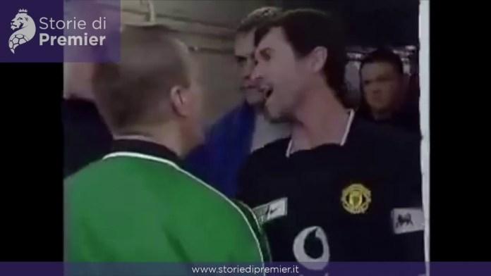La lite tra Roy Keane e Patrick Viera nel tunnel prima di Arsenal-Manchester United