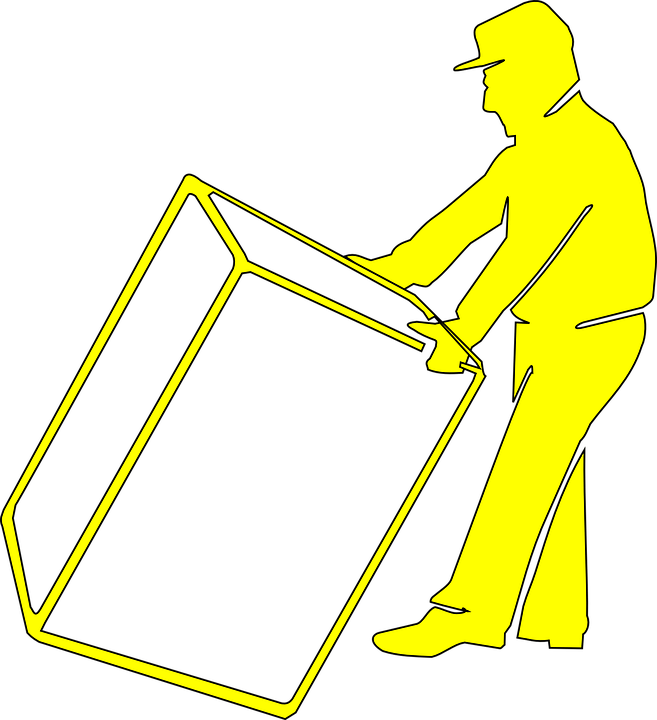 man lifting box illustration