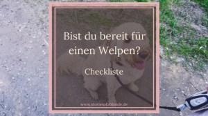 Checkliste Welpen