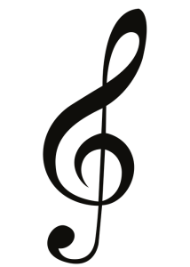 Musical notes to write with