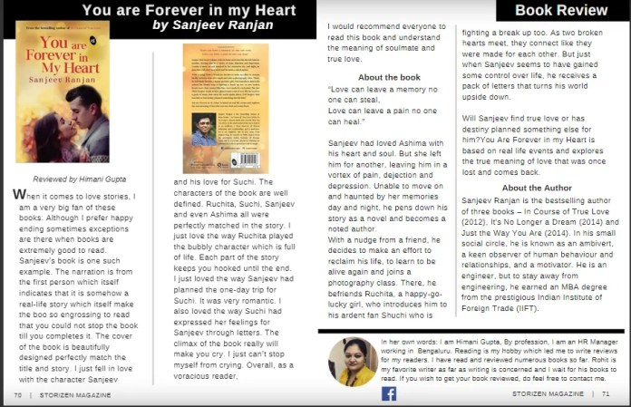 you-are-forever-in-my-heart-by-sanjeev-ranjan-book-review