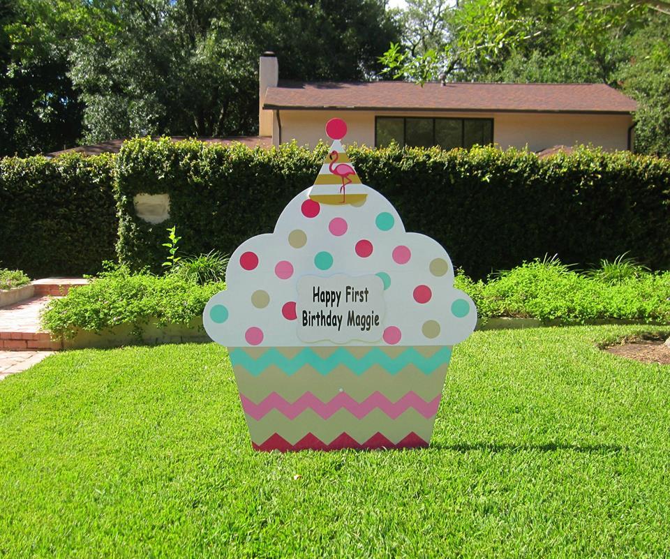 Birthday Lawn Signs San Antonio Stork Lady Signs