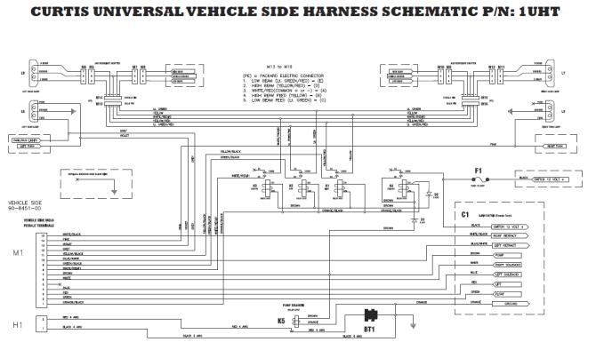curtis plow headlight wiring harness gm  wiring diagram