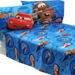 4pc Disney Cars Full Bed Sheet Set Lightning Mcqueen