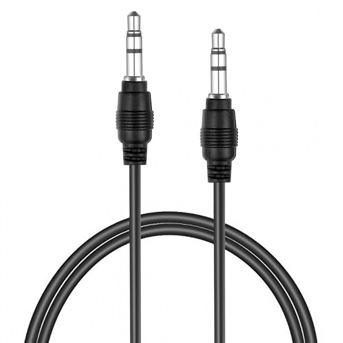 Neewer Black 3 5mm Male To Male Auxiliary Aux Stereo Audio Cable Cord 1 1ft For Iphone Ipod