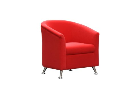 Tub Chair Red Single