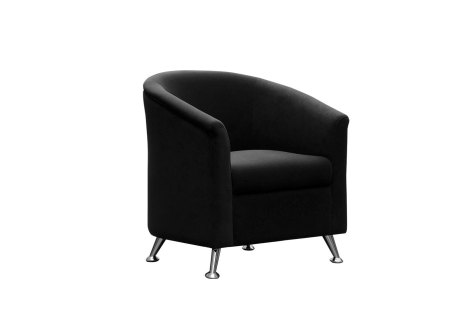 Tub Chair Black Single