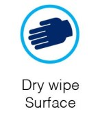 dry wipe surface