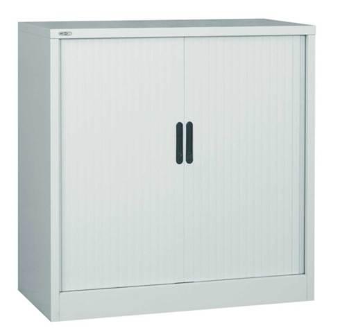 silver tambour cabinet