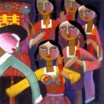 """""""Clever Bridesmaids"""", He Qi, 2001"""
