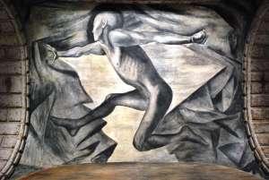 """""""La Juventud,"""" mural by José Clemente Orozco, c. 1922-24, Mexico City, Mexico"""