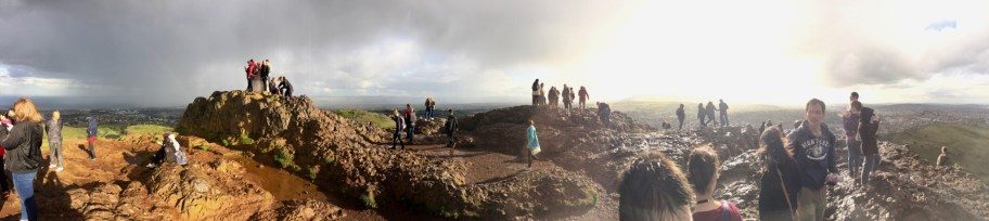 Part of the panorama from the top of Arthur's Seat