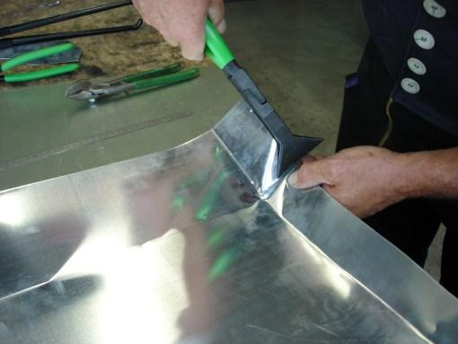 Deep Depth Seaming Pliers in Use