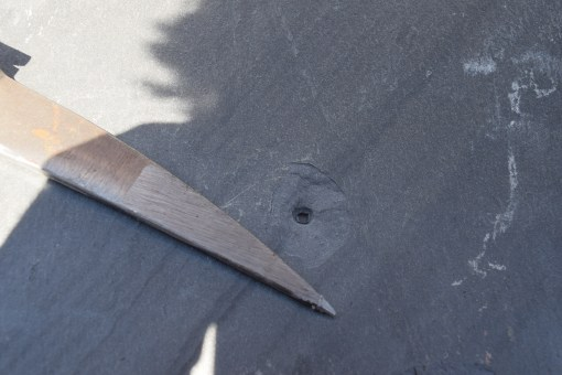 Slate Punch with Slate Hammer