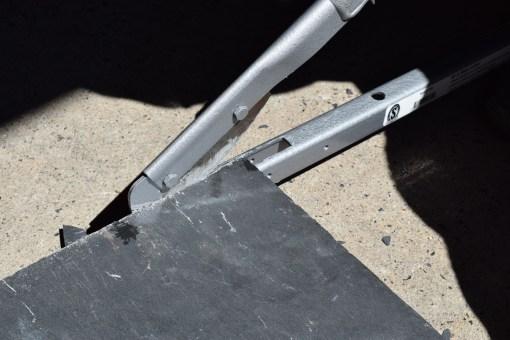 Slate Cutter In Use