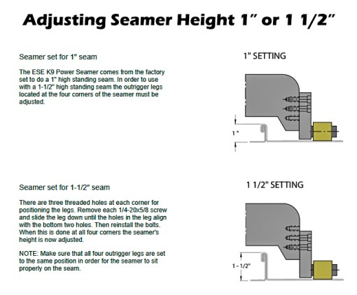 ESE Seamer Height