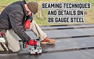 Seaming Details