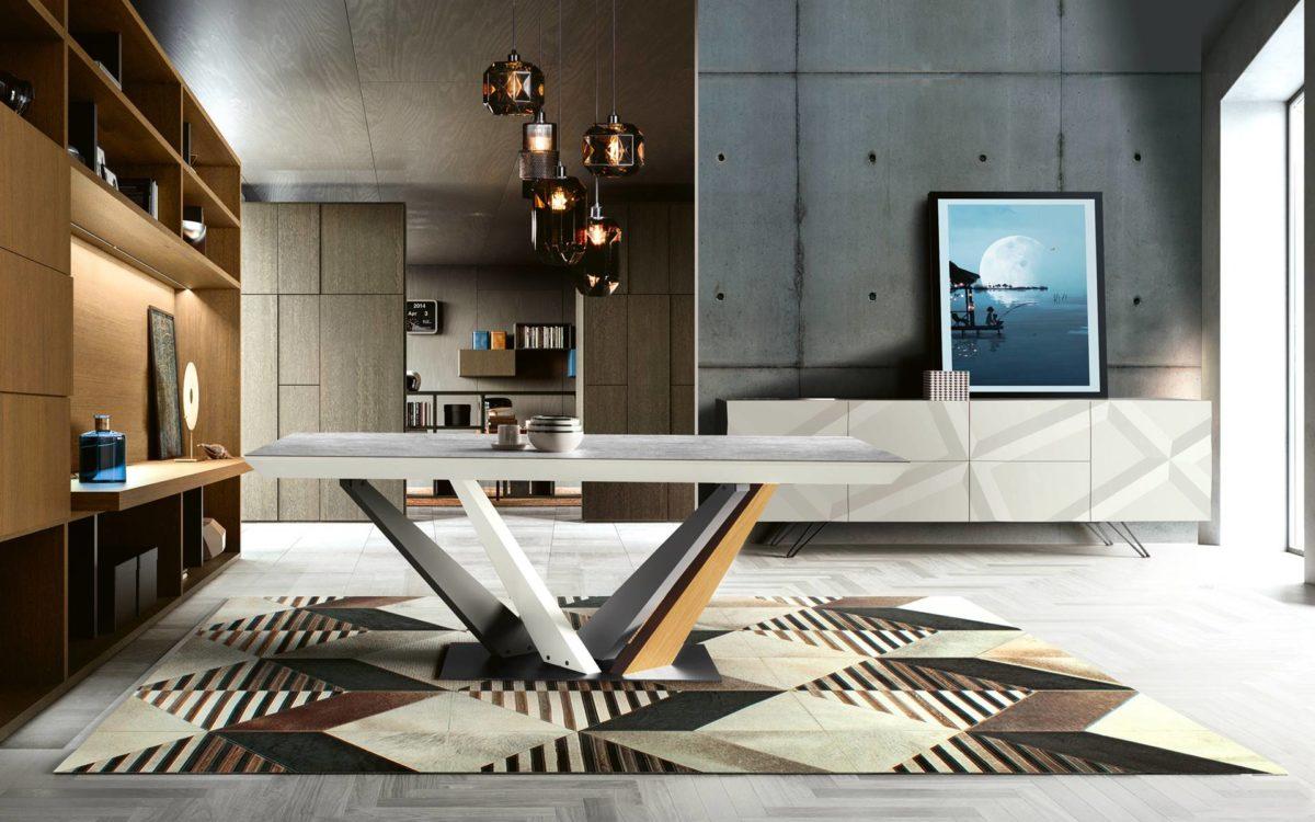 sejour contemporain table et meuble