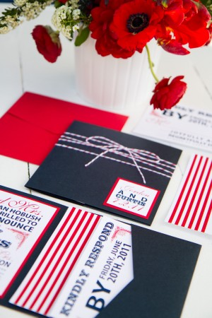 Red And White Wedding Invitations Marvelous On