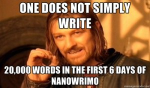 Don't bring me down Boromir