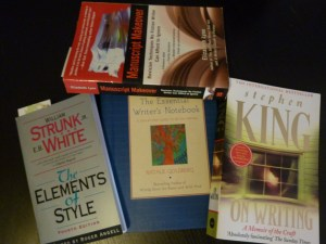 A small collection of writing books