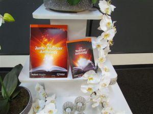 The anthologies on display