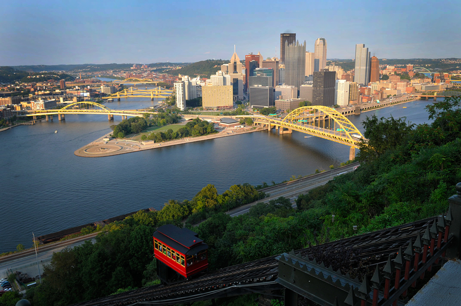 Three Rivers, Duquesne Incline and Pittsburgh Downtown