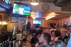 Piper's Pub during the semifinal between Croatia and England on Wednesday, July 11 -- PC -- N. Strebig