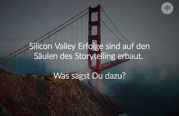 Umfrage zum Thema Storytelliing