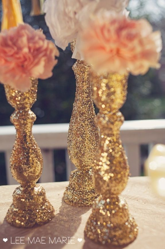 Glam Wedding Decor: 14 DIY Glitter Wedding Ideas