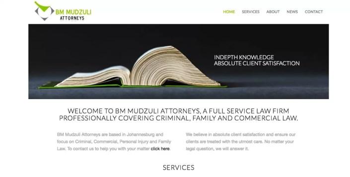 Mudzuli Law Firm Website