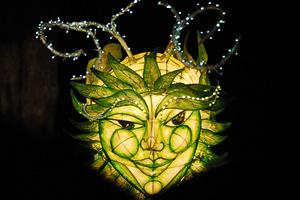 Green Man lantern, Woodford Folk Festival