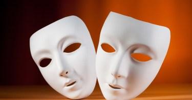 masks, psuedonym, theatre