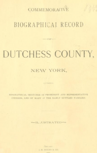 Commemorative Biographical Record of Dutchess County, New York