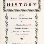 A Documentary History of the Dutch Congregation of Oyster Bay, Pamphlet No. 6