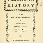 A Documentary History of the Dutch Congregation of Oyster Bay, Pamphlet No. 8