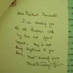 Handwritten Note to FDR by Maud Stoutenburgh Eliot
