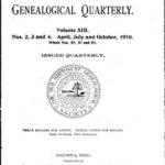 Old Northwest Genealogical Quarterly, Volume XIII