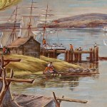 Stoutenburgh Landing (from Hyde Park Post Office Mural)