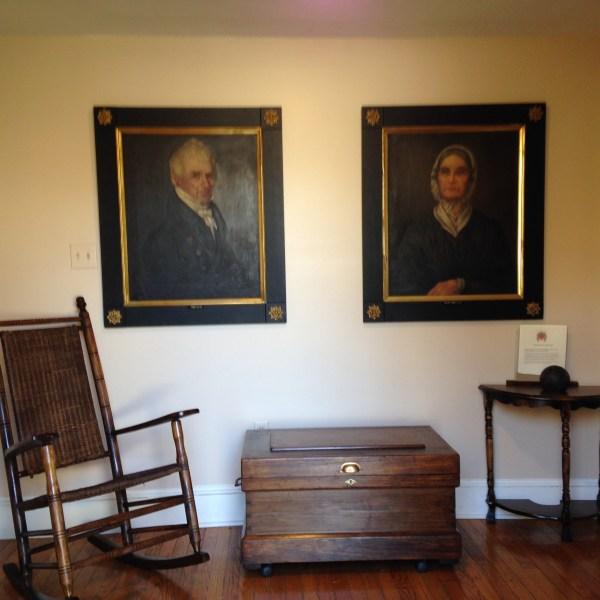 Teller Portraits in Wood Room in William Stoutenburgh House
