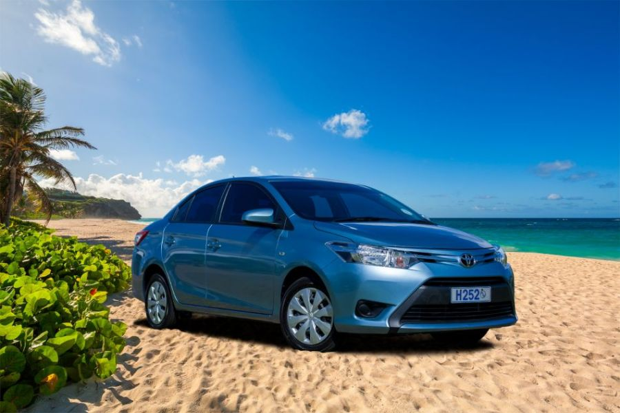Barbados car rental at Stoutes Car   car hire  hire jeeps  executive     Toyota Yaris