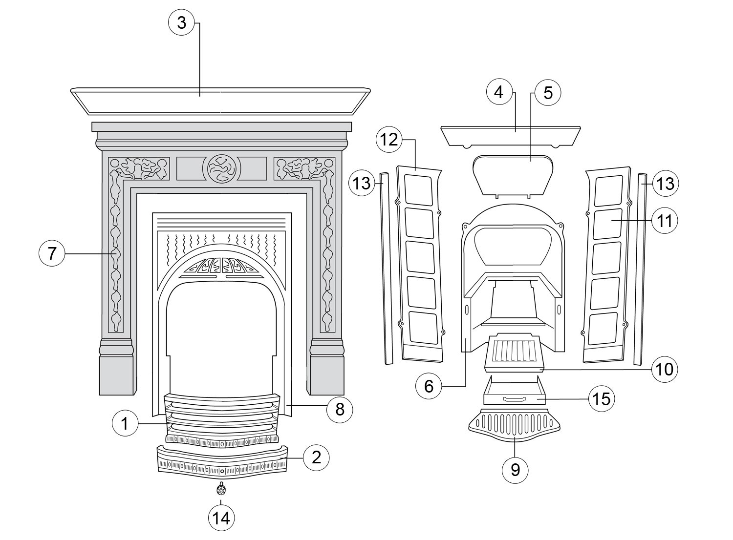 Combination Fireplace