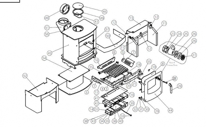 Exploded Diagram For Charnwood Cove 2 Stove