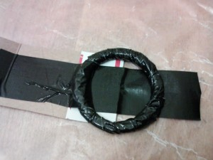 How to make a duct tape belt from cardboard
