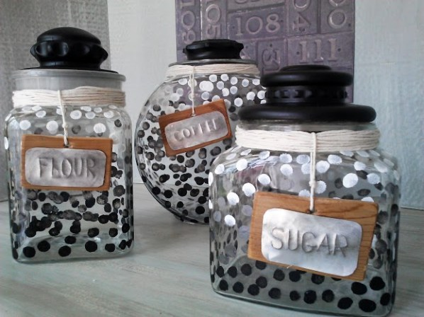 Ombre-dot-glass-canister-set-StowandTellU.com