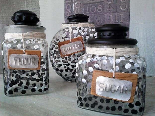 Ombre-dot-glass-canister-set-StowandTellU.com