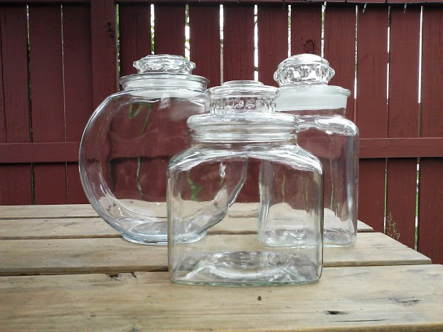 Plain-glass-canister-set