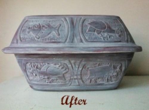 clay pot roaster grey-after