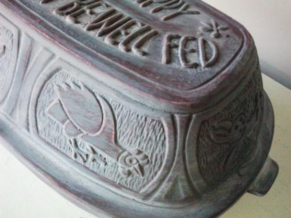 clay pot roaster grey